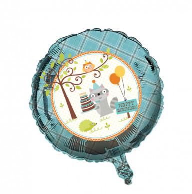 Ballon aluminium Animaux des bois garçon 45 cm