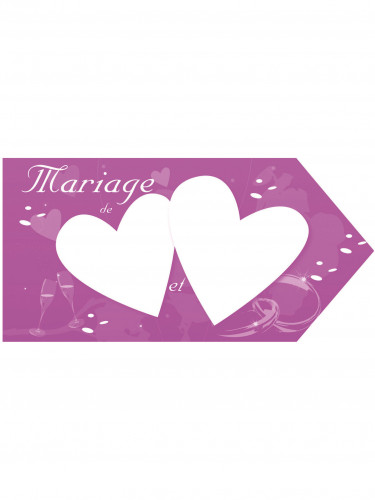 Flèche d'indication mariage fuchsia