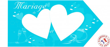 Flèche d'indication mariage turquoise