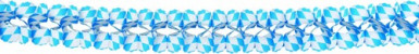 Guirlande bleue et blanche Fête de la bière