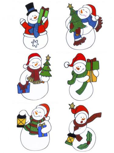 1 Décoration pour fenêtre bonhomme de neige