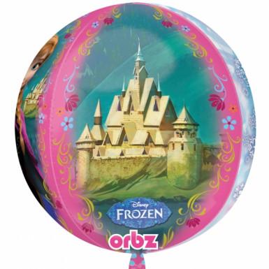 Ballon rond La Reine des Neiges™-3