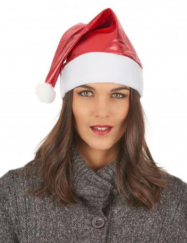 Bonnet métallisé rouge adulte Noël-2