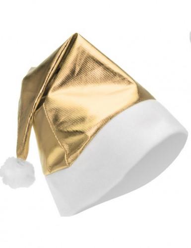 Bonnet métallisé or adulte Noël