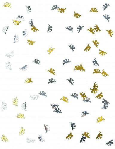 Confettis de table ange or et argent-1