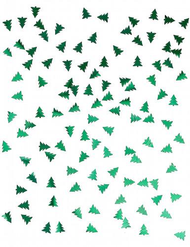 Confettis de table sapin - vert métallisé-1