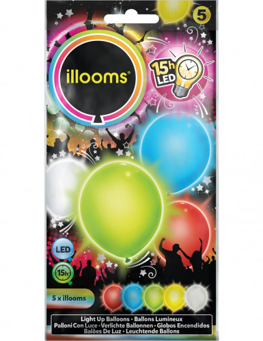 5 Ballons LED multicolores Illooms™-1