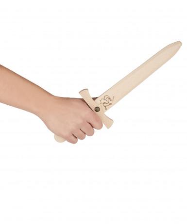 Dague en bois avec fourreau en cuir 35 cm-1