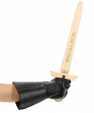 Epée en bois Excalibur enfant 50 cm-1
