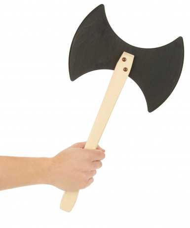 Hache viking en bois 45 cm-1