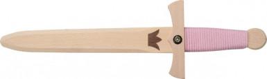 Petite épée de princesse en bois 35 cm