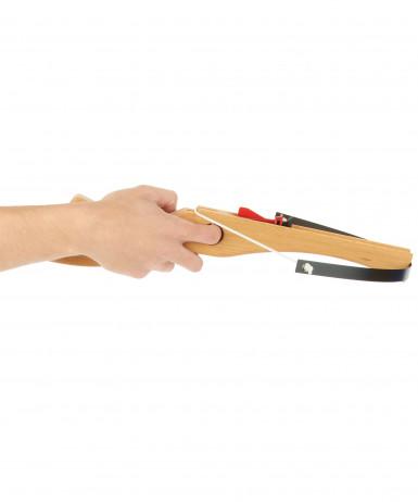 Arbalète en bois avec 3 fléchettes 45 cm-1
