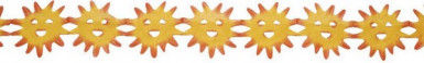 Guirlande soleil 3 mètres
