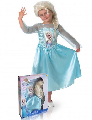 Coffret Déguisement + perruque Elsa La Reine des Neiges™ fille