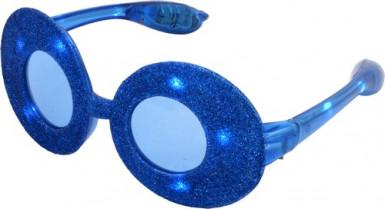Lunettes ovales à paillettes bleues
