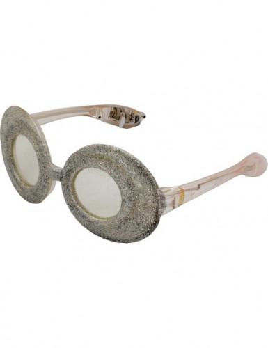 Lunettes ovales à paillettes transparentes