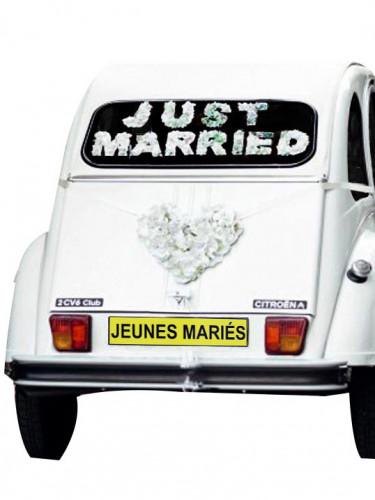 Plaque magnétique pour voiture Jeunes Mariés-1