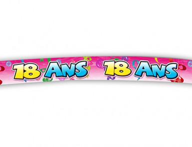Banderole 18 ans