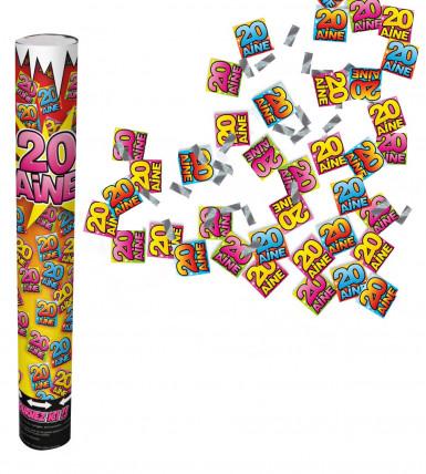 Canon confettis anniversaire 20 ans