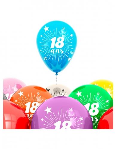 8 Ballons anniversaire 18 ans