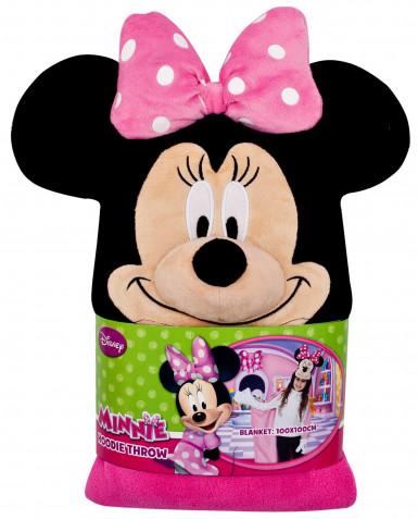 Plaid à capuche Disney Minnie fille-1