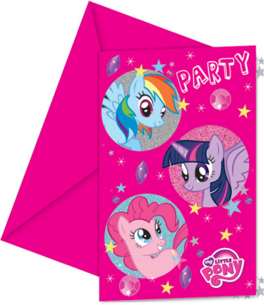 6 Cartes d'invitation Mon petit poney™