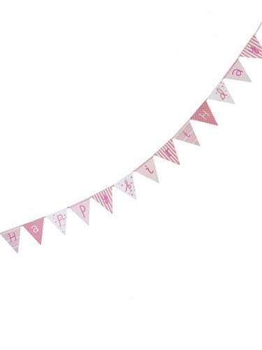 Guirlande rose Happy Birthday Pink party