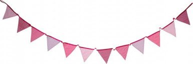 Guirlande fanions rose Pink Party-1