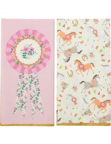 20 Serviettes en papier Poney 33 x 33 cm