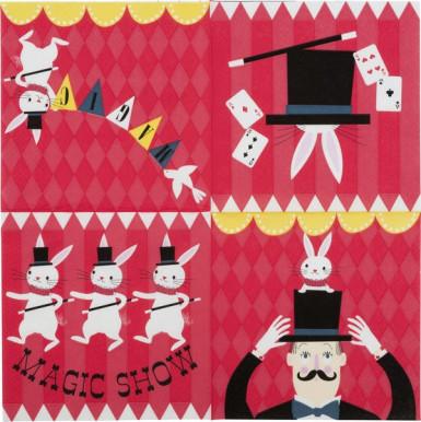 20 Serviettes en papier Magicien 33 x 33 cm-1