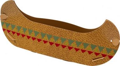 6 Petits pots forme canoë Chez les indiens