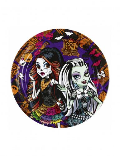 8 Petites assiettes en carton Monster High™ 18 cm