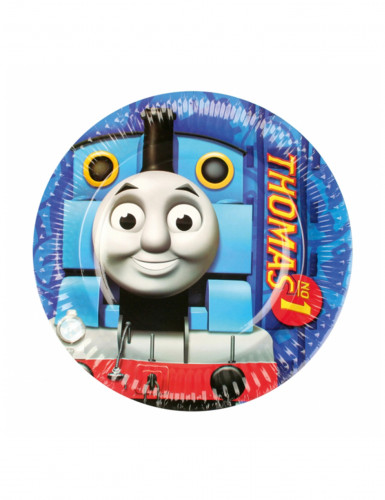 8 Petites assiettes en carton Thomas et ses amis™ 18 cm