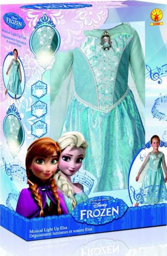 Déguisement de luxe lumineux et sonore Elsa Frozen™ Fille-1
