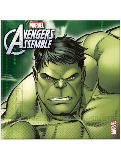 20 Serviettes en papier les Avengers™ 33 x 33 cm