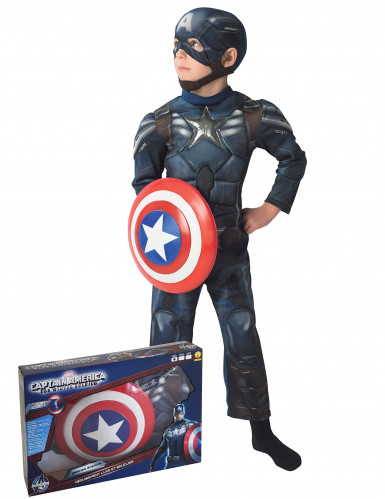 Déguisement Captain America The Winter Soldier™ rembourré enfant coffret