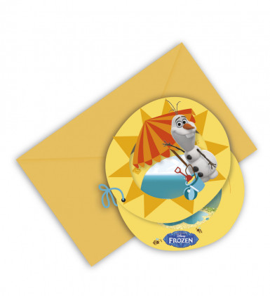 6 Cartes d'invitation Olaf™