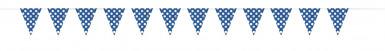 Guirlande bleue à pois blancs-1