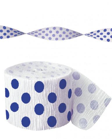Guirlande papier crépon blanche à pois
