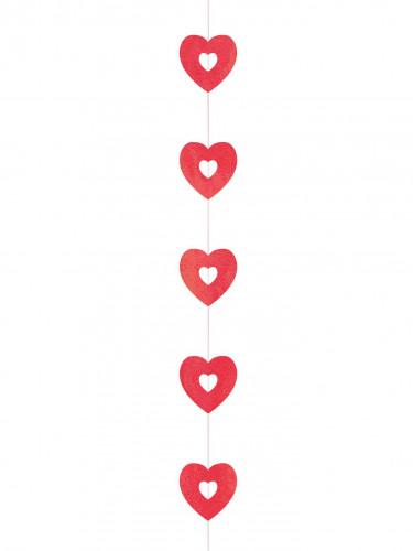 4 Décorations à suspendre coeurs Saint-Valentin