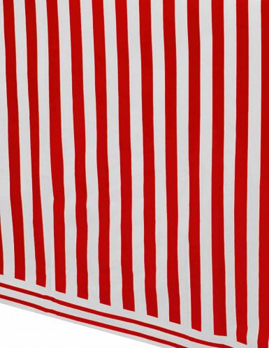 Nappe en plastique à rayures rouges et blanches 137 x 274 cm-1