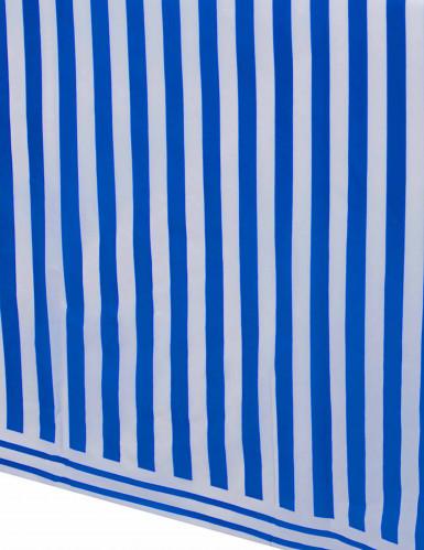 Nappe plastique rayée bleue et blanche 140 x 237 cm-1