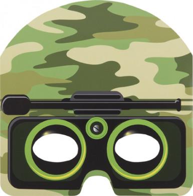 8 Masques carton camouflage enfant