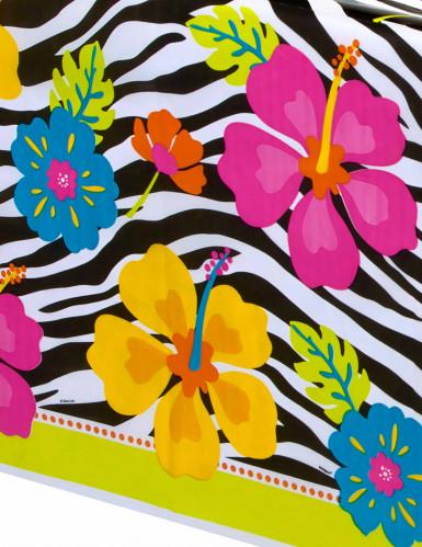 Nappe plastique Hibiscus Zébré 137 x 213 cm-1