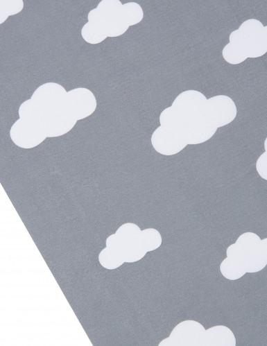 Chemin table tissu gris imprimé nuages 28 cm x 5 m-1