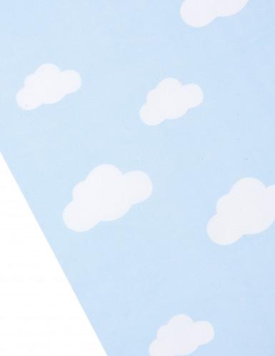 Chemin de table tissu bleu ciel imprimé nuage-1