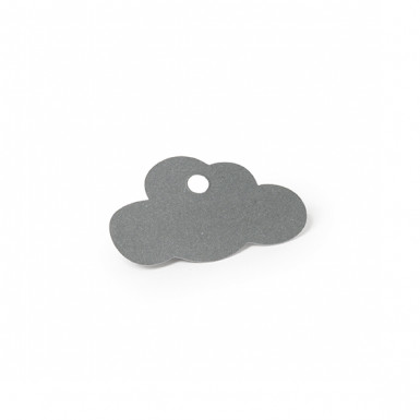 24 Etiquettes nuage gris