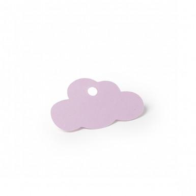 24 Etiquettes nuage rose