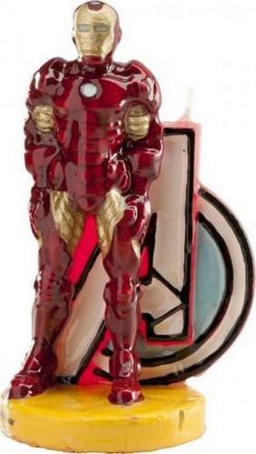 Bougie Iron Man™ 9.5 cm