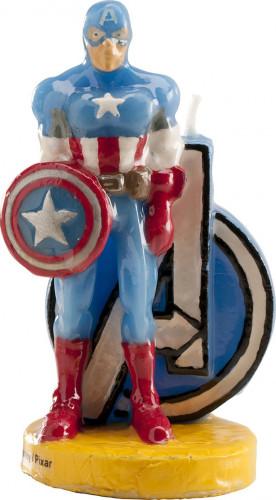 Bougie Captain America™ 9 cm